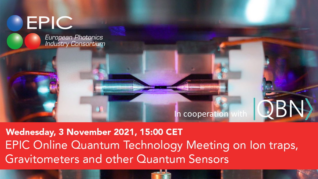 QBN partner event: EPIC Online Quantum Technology Meeting on Ion Traps, Gravitometers and other Quantum Sensors